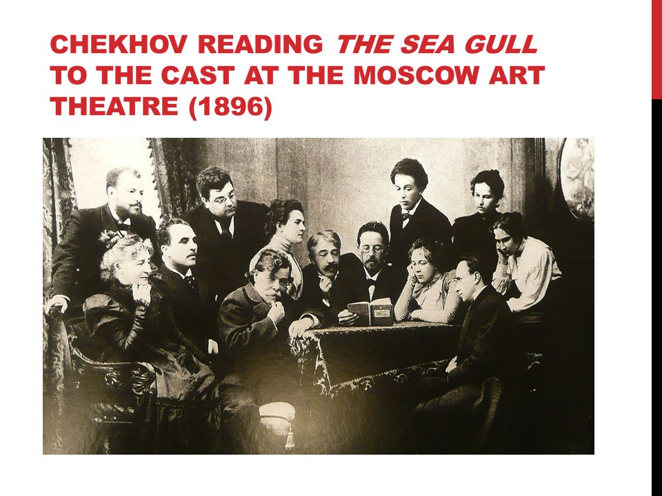 Chekhov reading the sea gull to the cast at the moscow art theatre (1896)