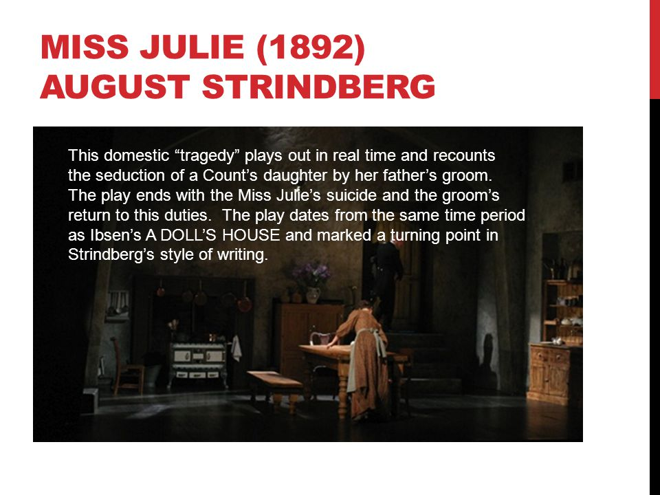 The Importance of Scenography in Miss Julie and A Doll's House Essay
