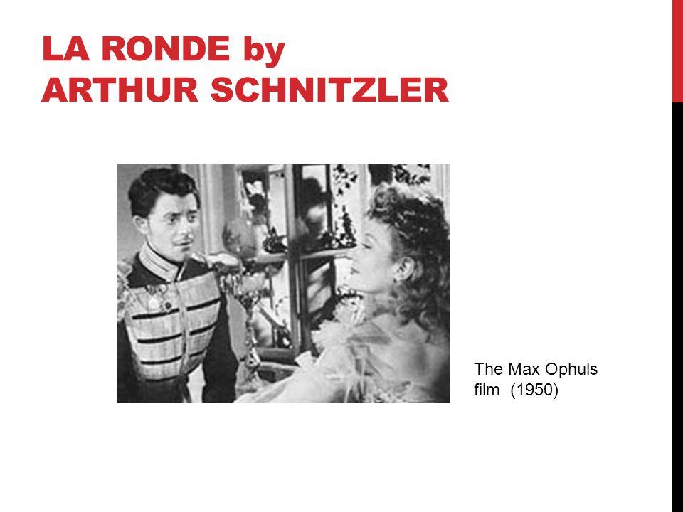 LA RONDE by ARTHUR SCHNITZLER