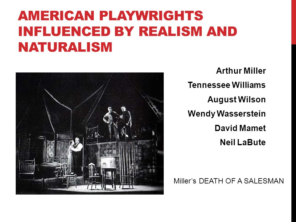 American playwrights influenced by realism and naturalism