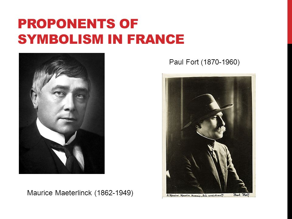 Proponents of symbolism in france
