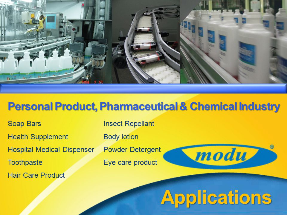 Applications Personal Product, Pharmaceutical & Chemical Industry