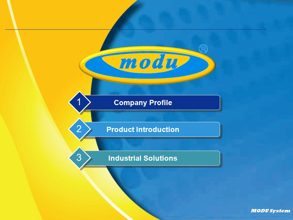 Company Profile 1 Product Introduction 2 Industrial Solutions 3
