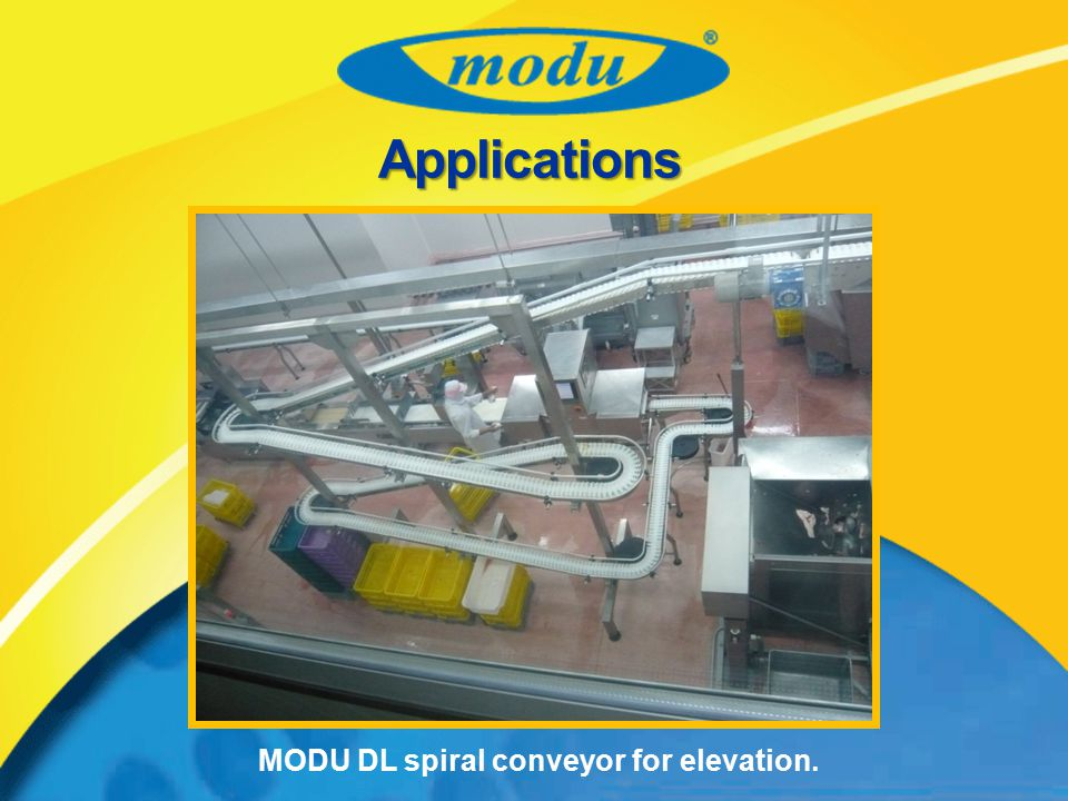 MODU DL spiral conveyor for elevation.