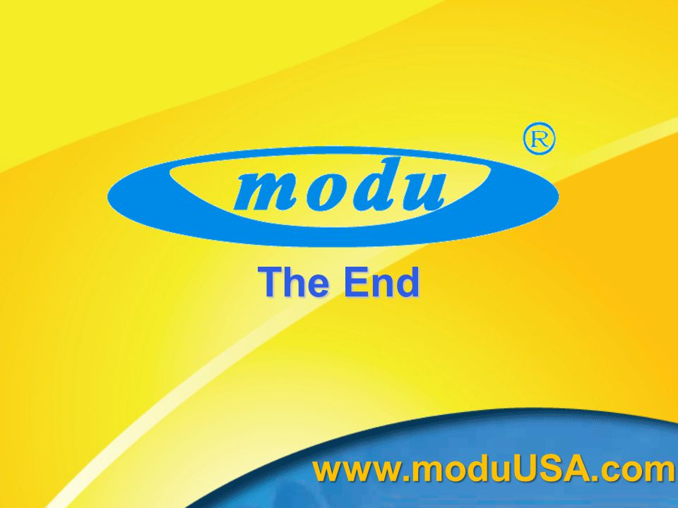 The End www.moduUSA.com