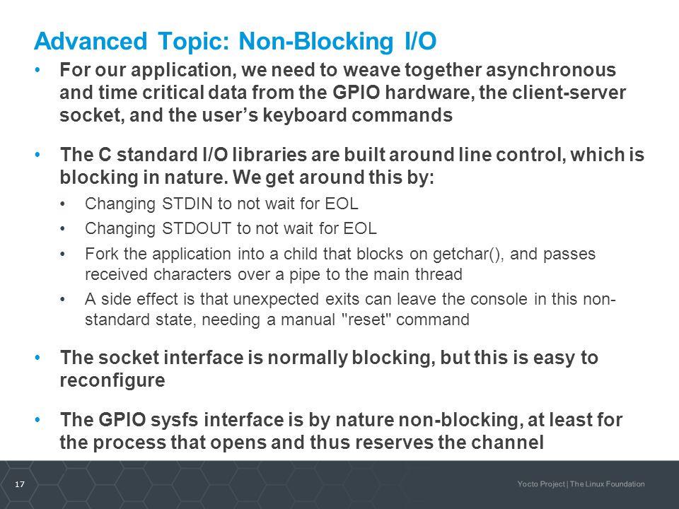 Advanced Topic: Non-Blocking I/O