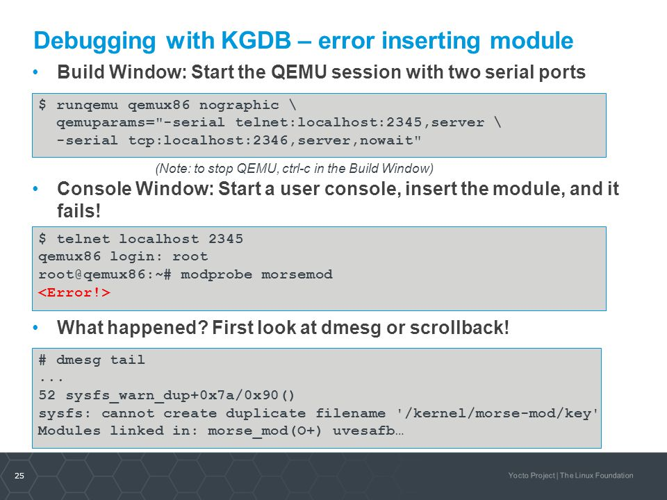 Debugging with KGDB – error inserting module