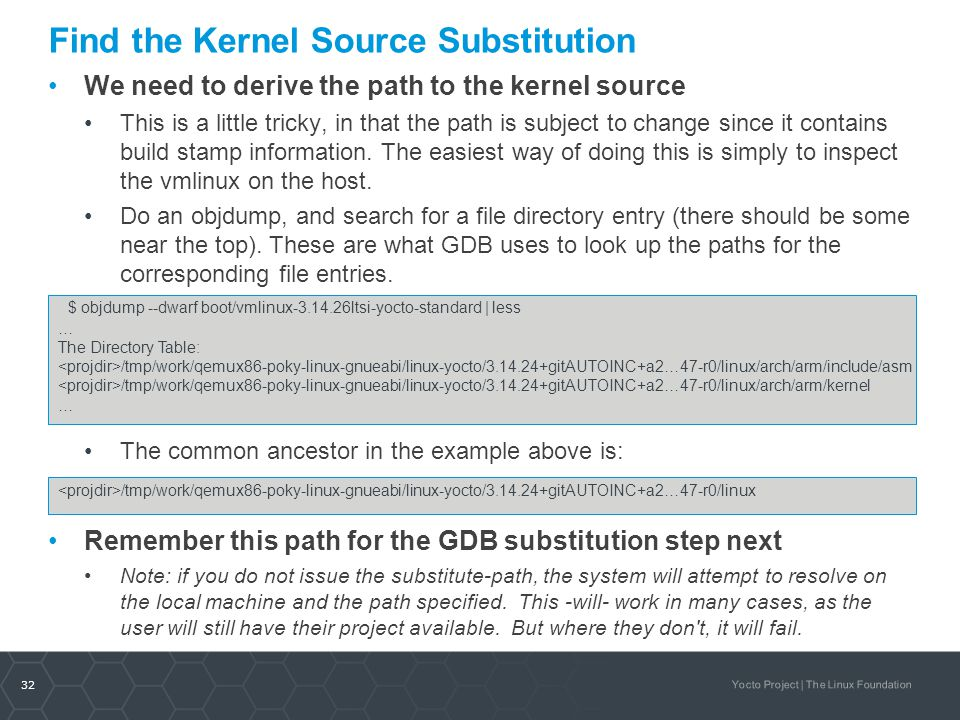 Find the Kernel Source Substitution