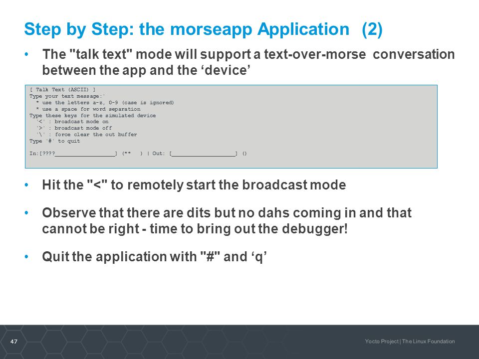 Step by Step: the morseapp Application (2)