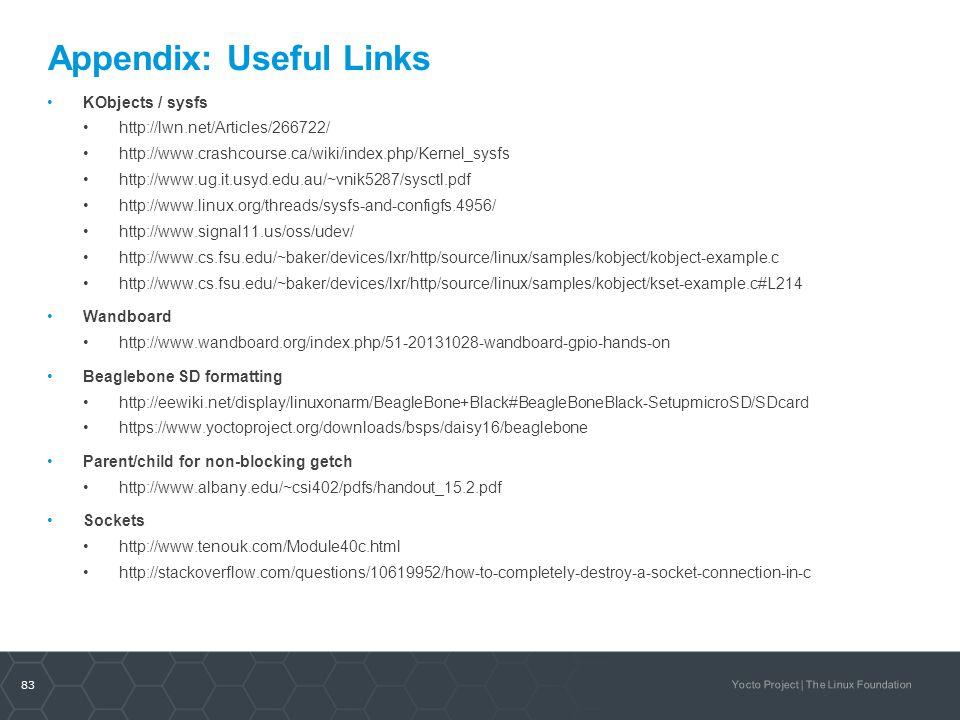 Appendix: Useful Links