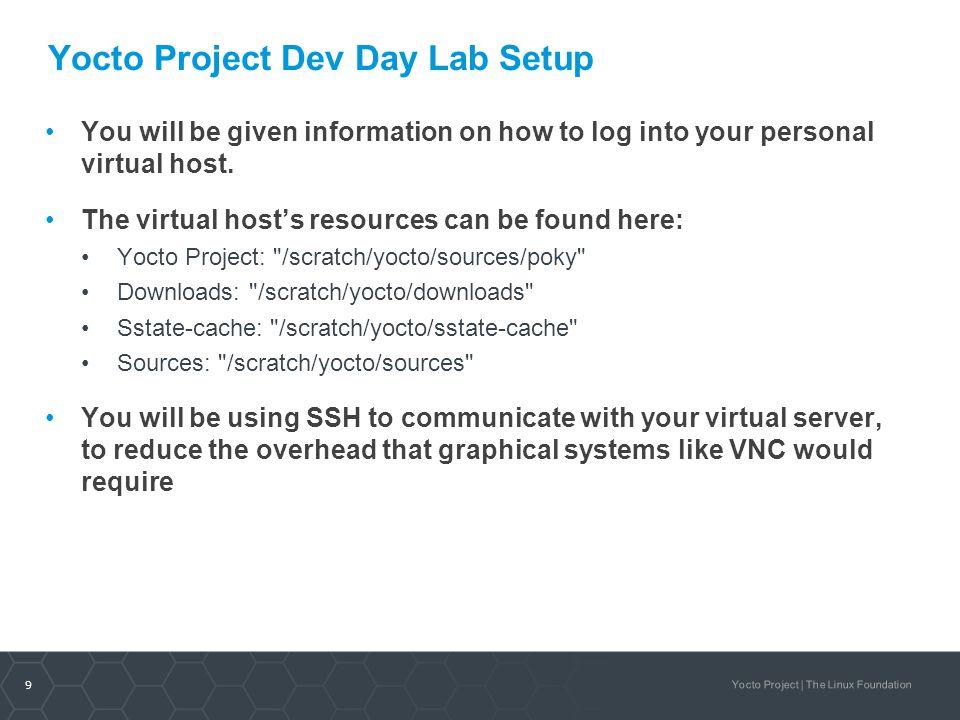 Yocto Project Dev Day Lab Setup