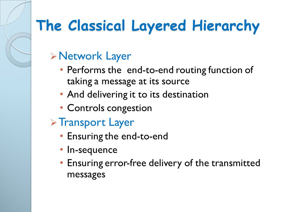 The Classical Layered Hierarchy