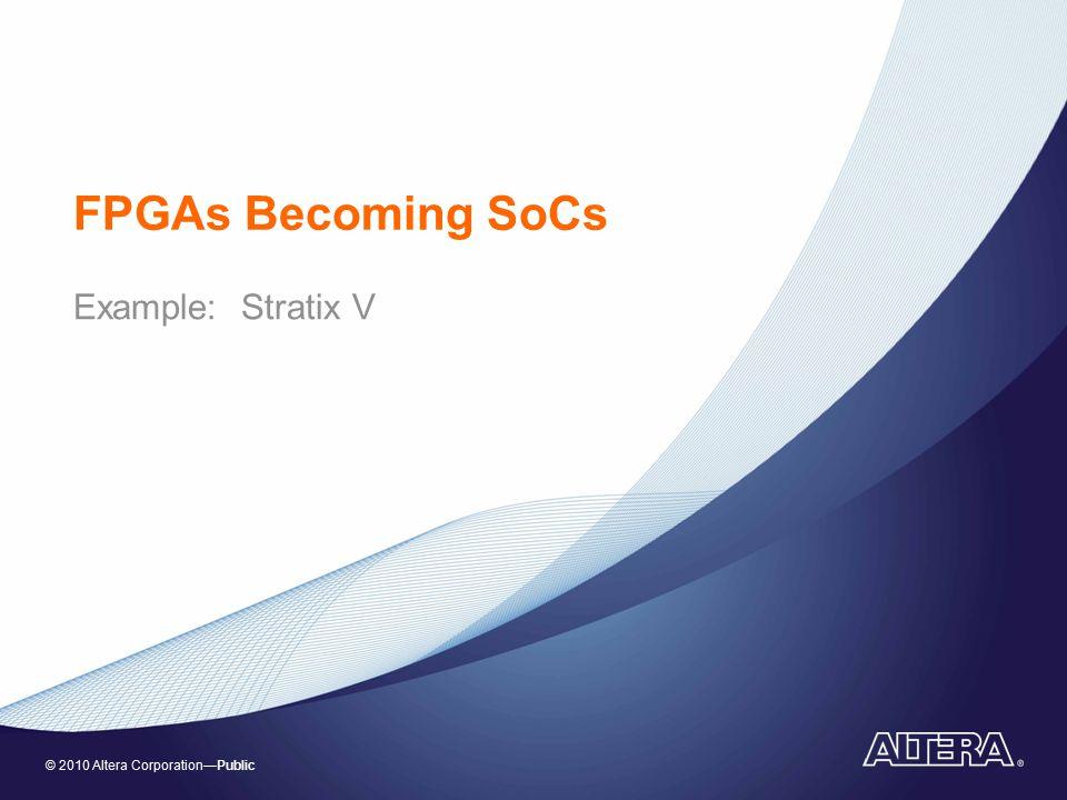 FPGAs Becoming SoCs Example: Stratix V
