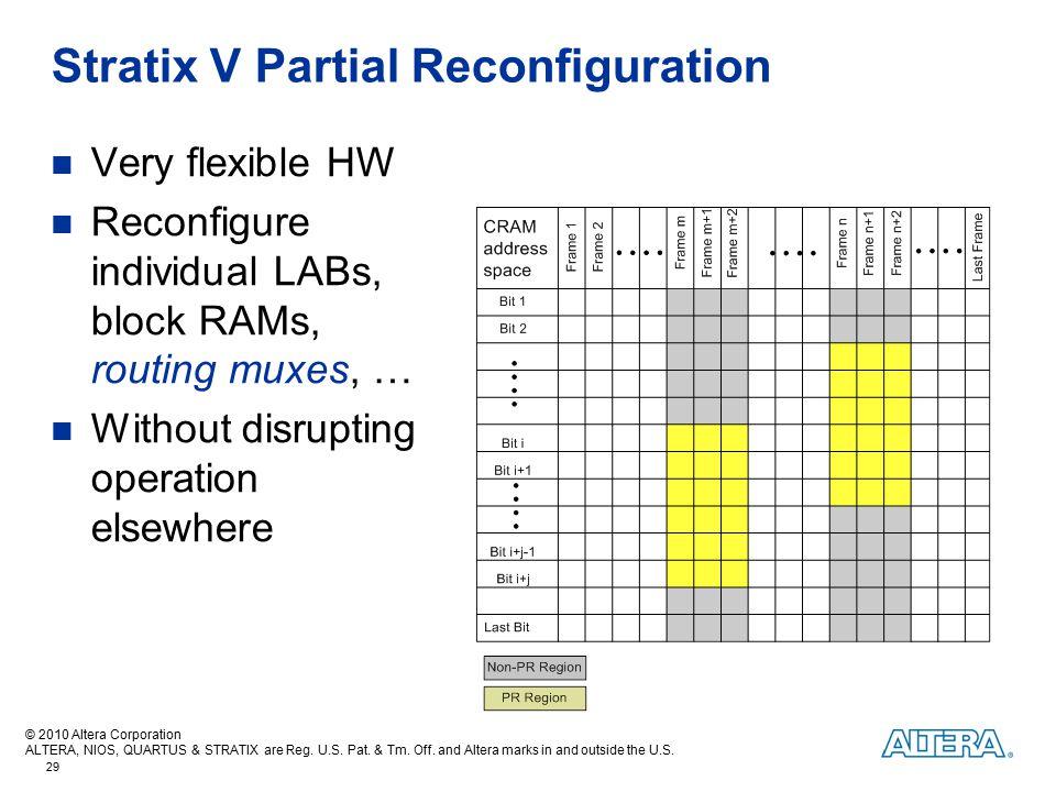 Stratix V Partial Reconfiguration