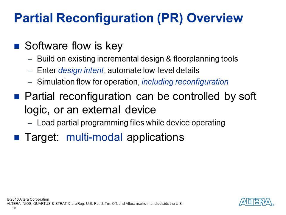 Partial Reconfiguration (PR) Overview