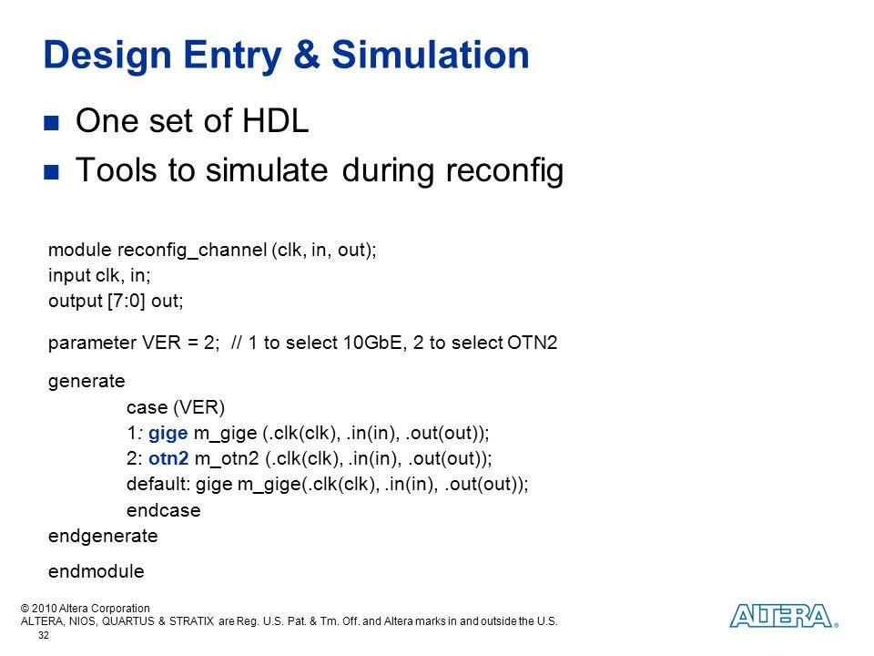 Design Entry & Simulation