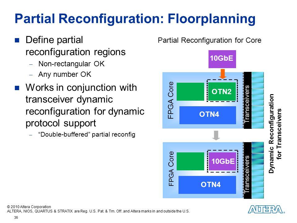 Partial Reconfiguration: Floorplanning