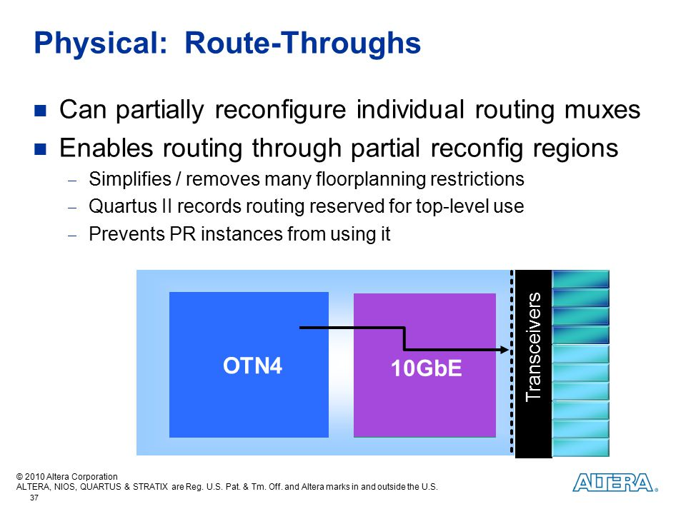 Physical: Route-Throughs