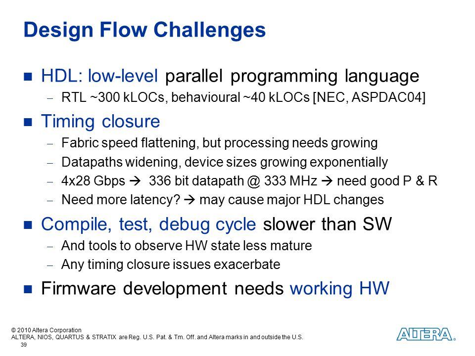 Design Flow Challenges