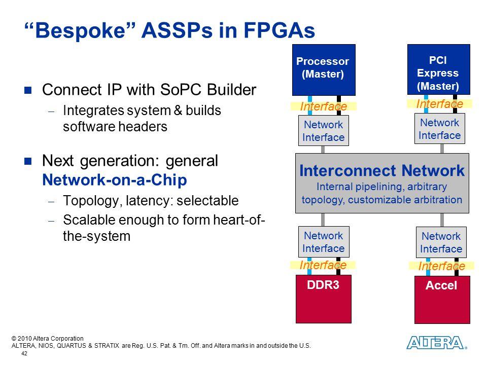 Bespoke ASSPs in FPGAs