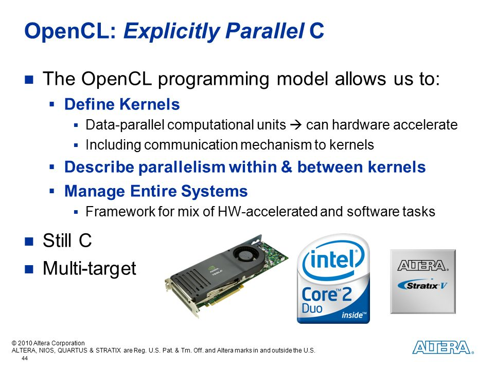 OpenCL: Explicitly Parallel C