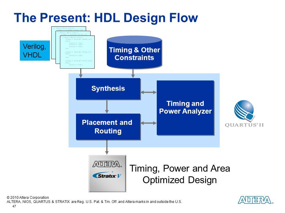 The Present: HDL Design Flow