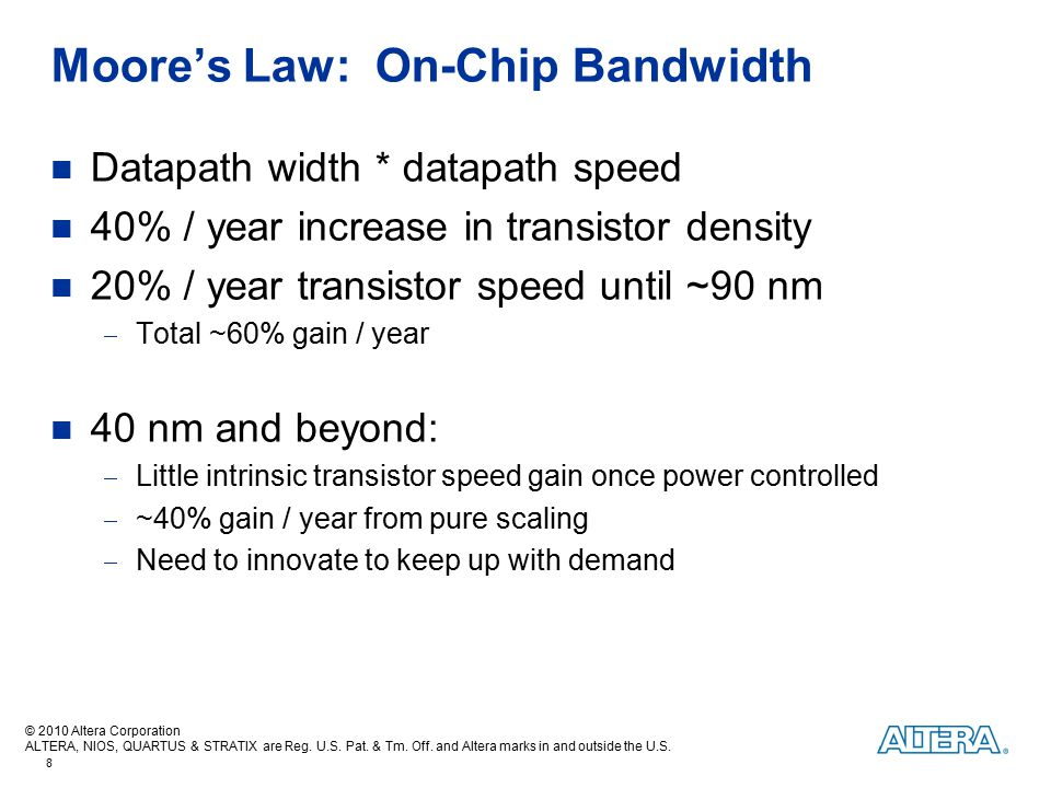 Moore's Law: On-Chip Bandwidth