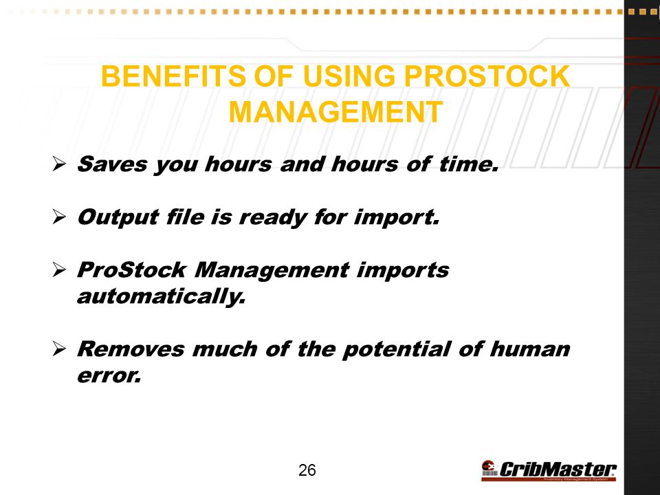 Benefits of using prostock management