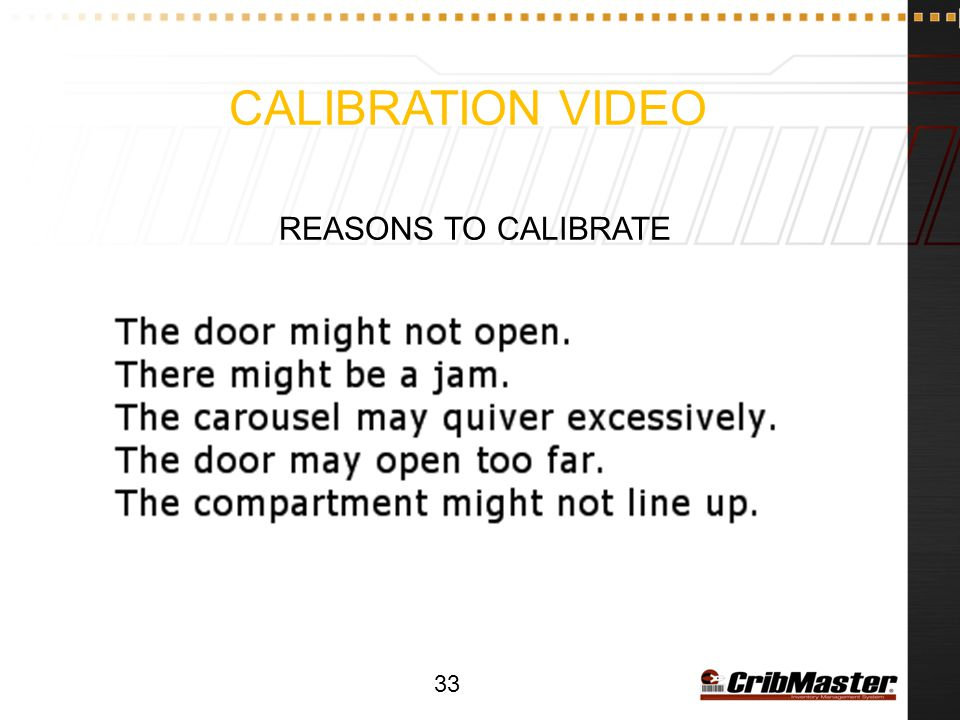 Calibration Video Reasons to Calibrate