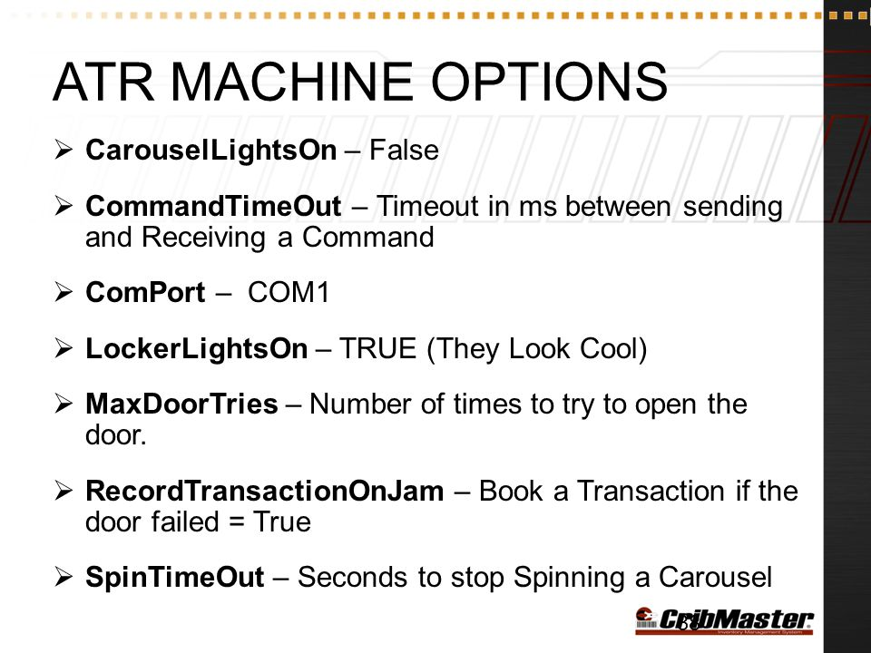 ATR Machine Options CarouselLightsOn – False