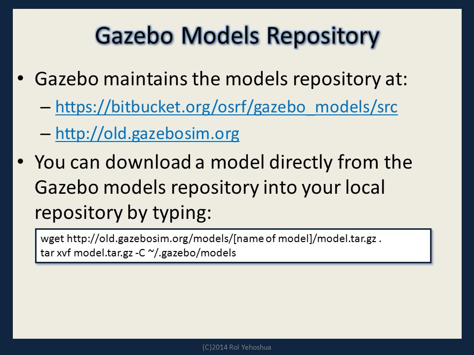 Gazebo Models Repository