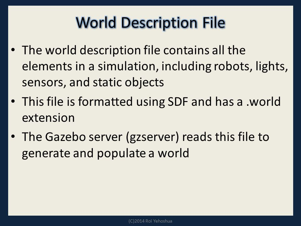 World Description File