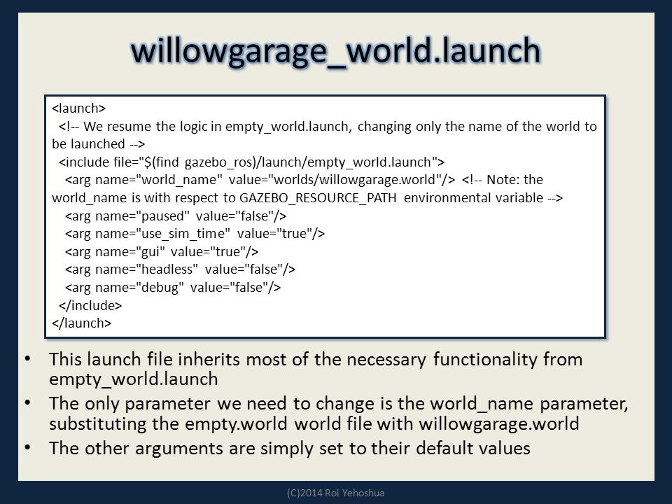 willowgarage_world.launch