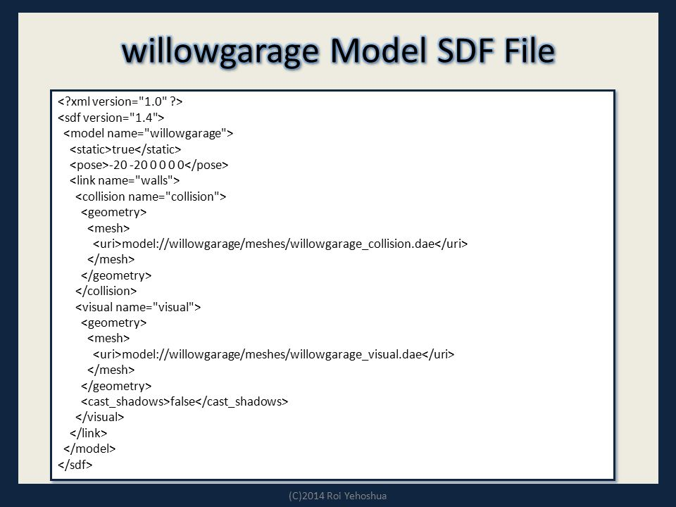 willowgarage Model SDF File