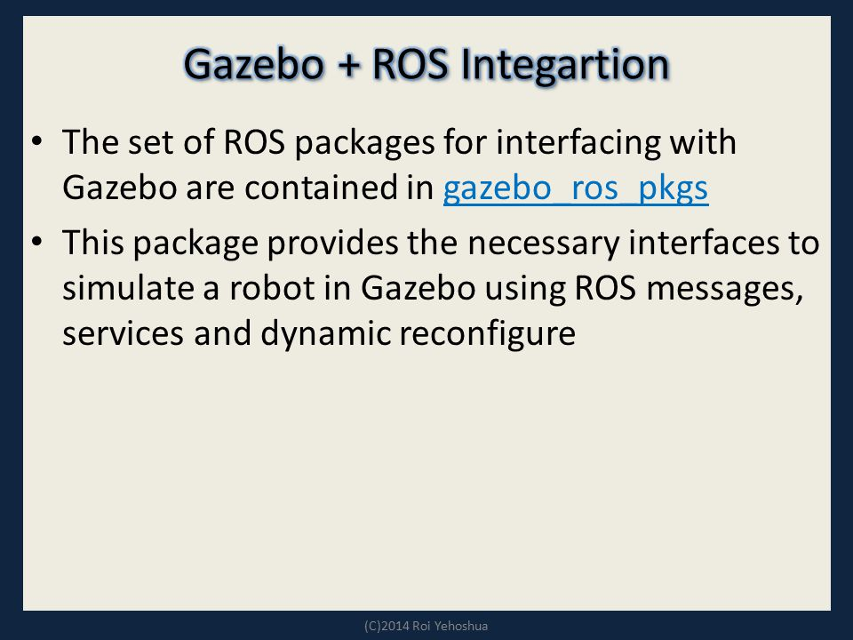 Gazebo + ROS Integartion