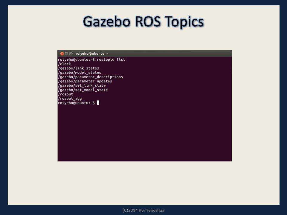 Gazebo ROS Topics (C)2014 Roi Yehoshua