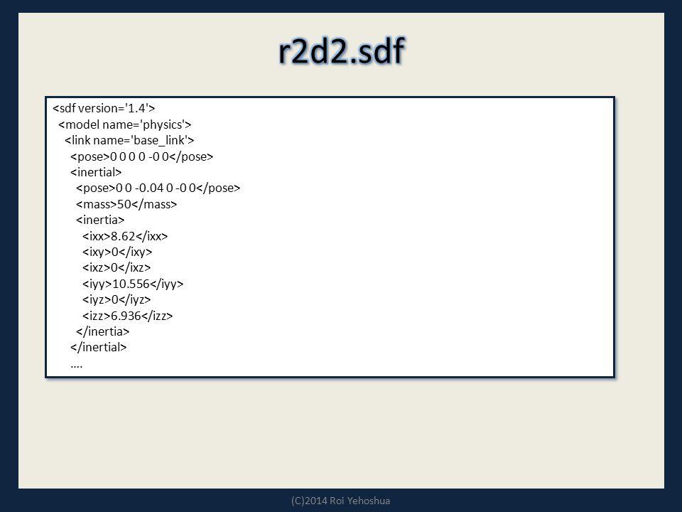 r2d2.sdf <sdf version= 1.4 > <model name= physics >