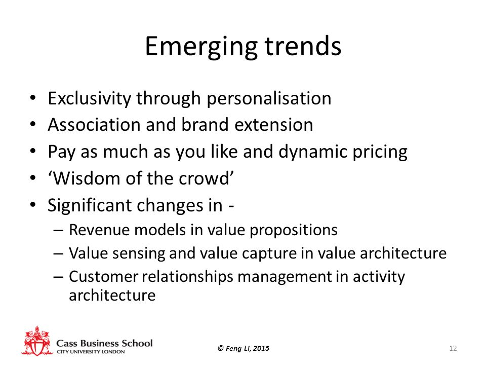 Emerging trends Exclusivity through personalisation