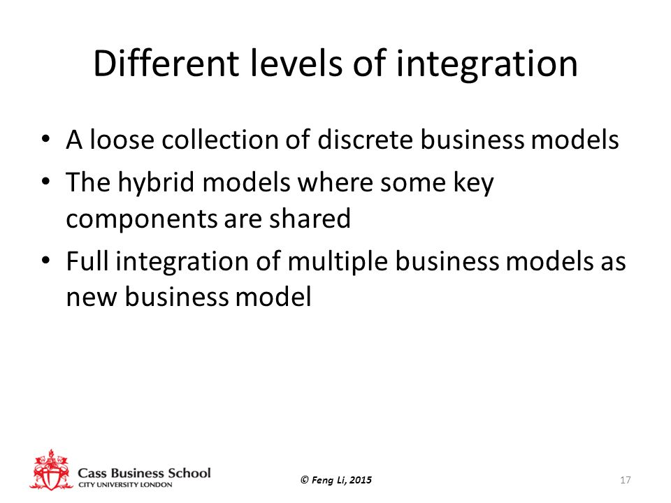 Different levels of integration