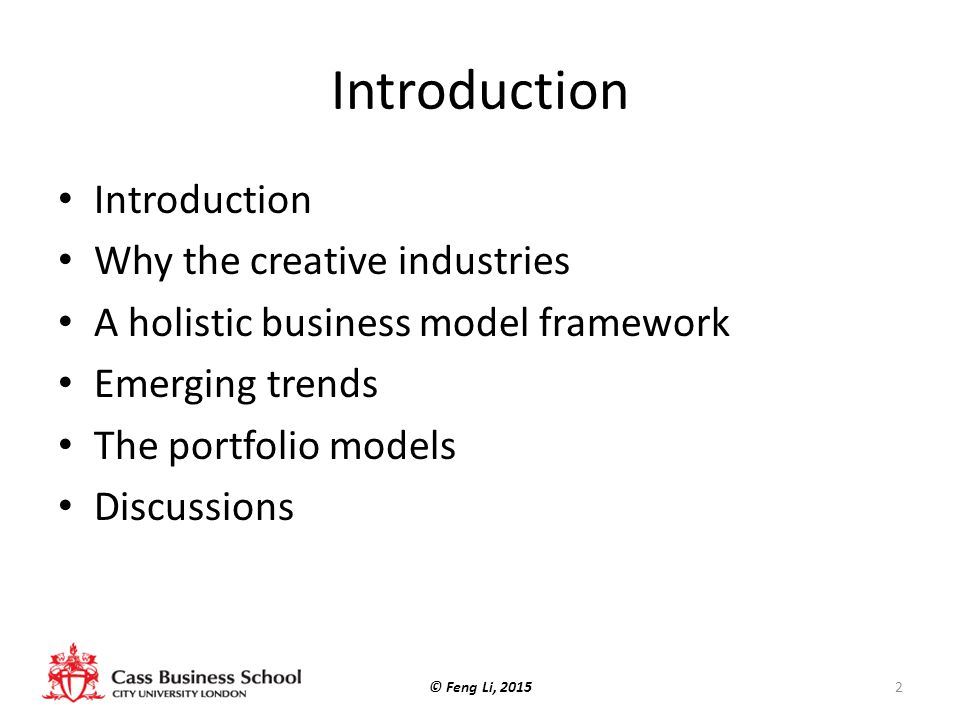 Introduction Introduction Why the creative industries