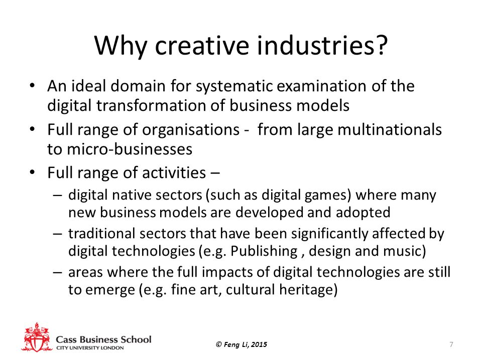 Why creative industries