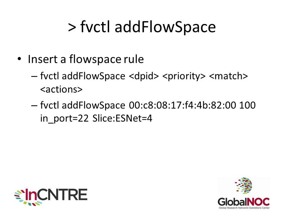 > fvctl addFlowSpace