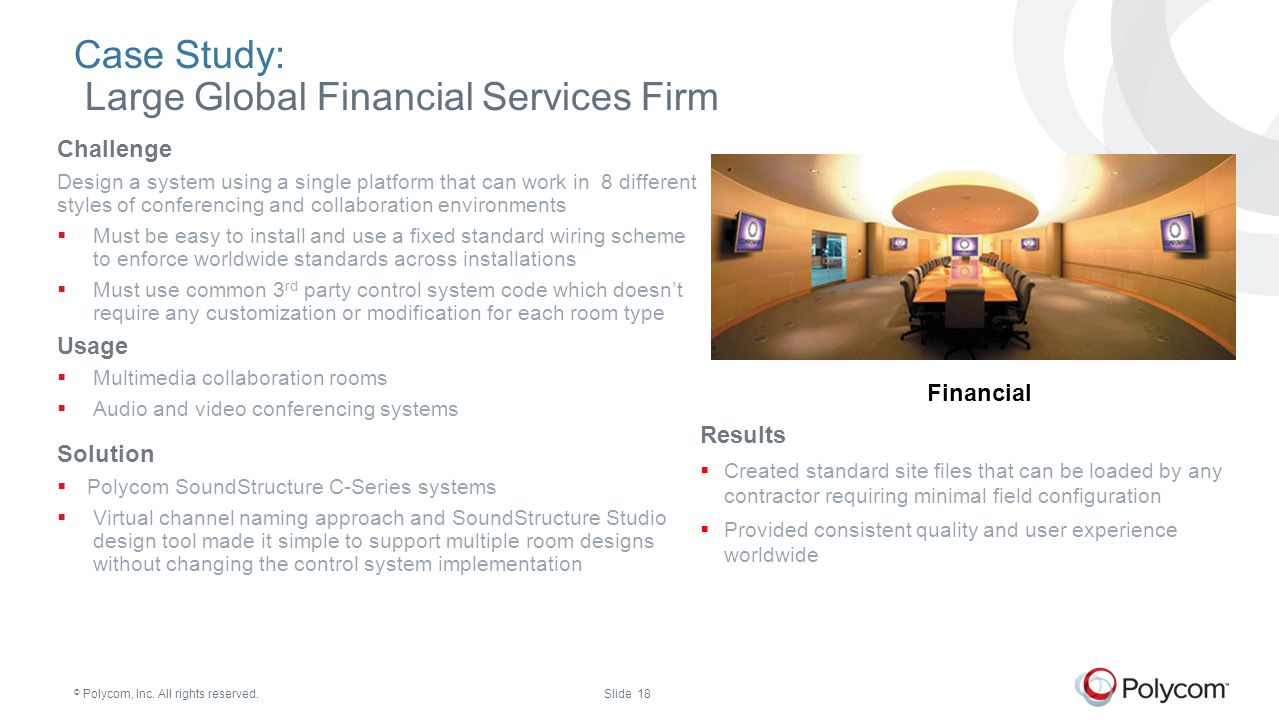 Case Study: Large Global Financial Services Firm