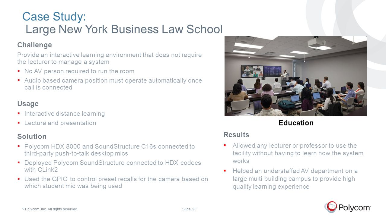 Case Study: Large New York Business Law School