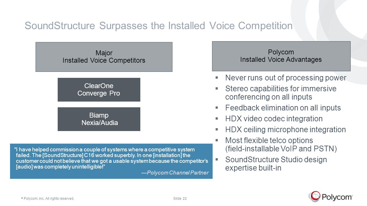 SoundStructure Surpasses the Installed Voice Competition