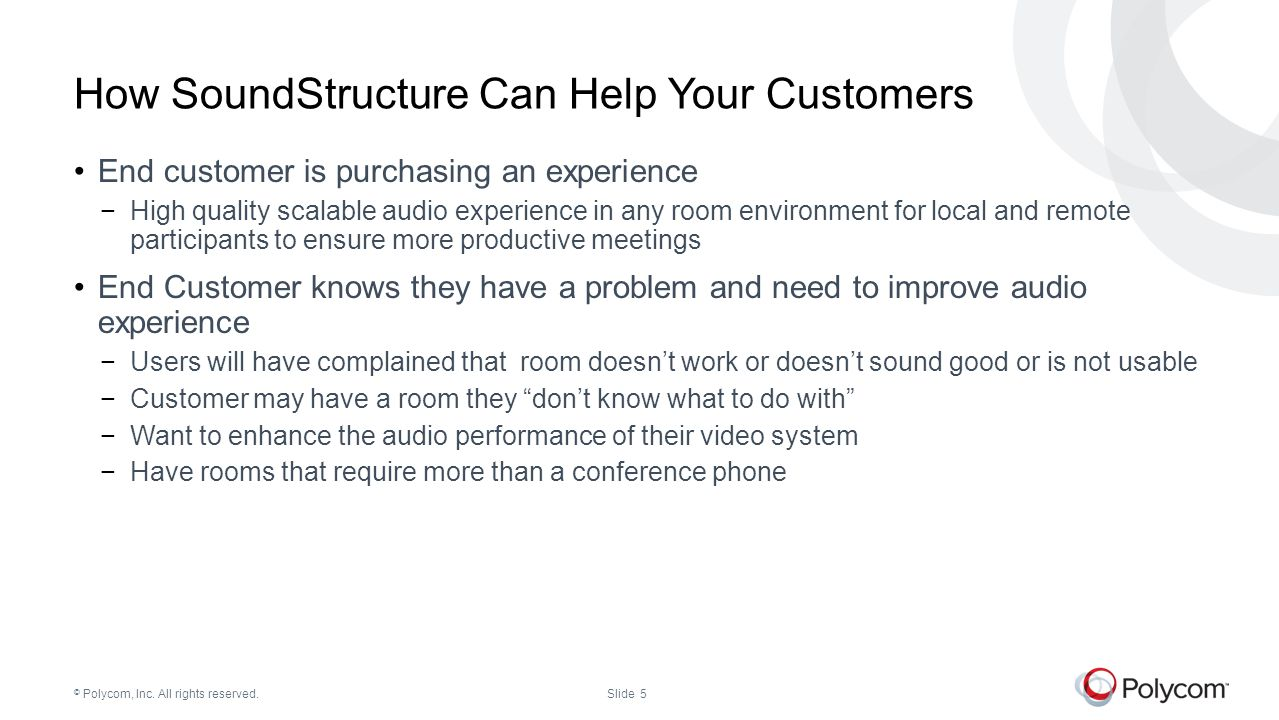 How SoundStructure Can Help Your Customers