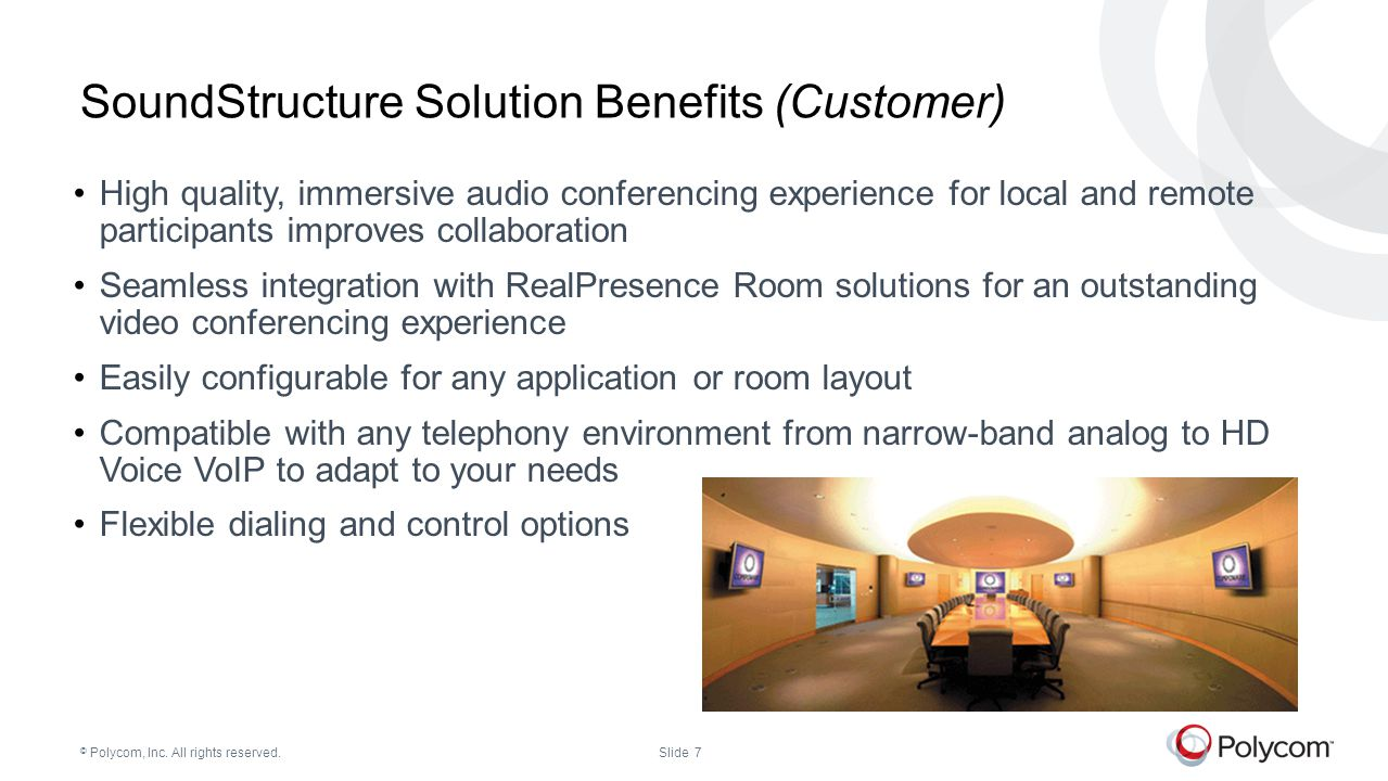 SoundStructure Solution Benefits (Customer)