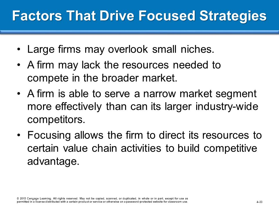 Factors That Drive Focused Strategies
