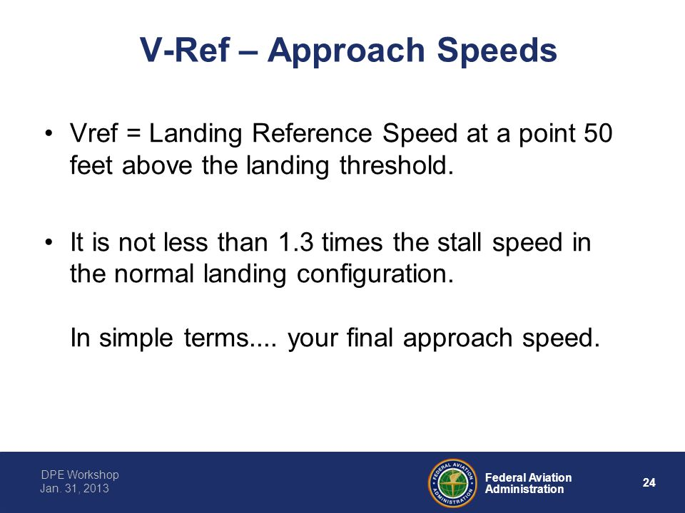 V-Ref – Approach Speeds