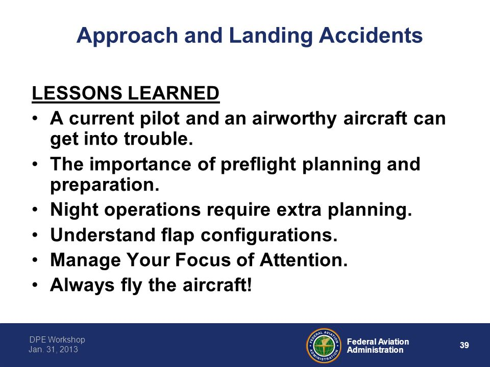 Approach and Landing Accidents